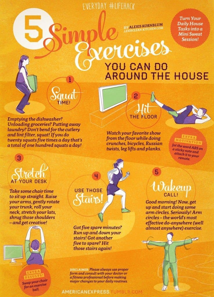 5 Exercises To Do At Home