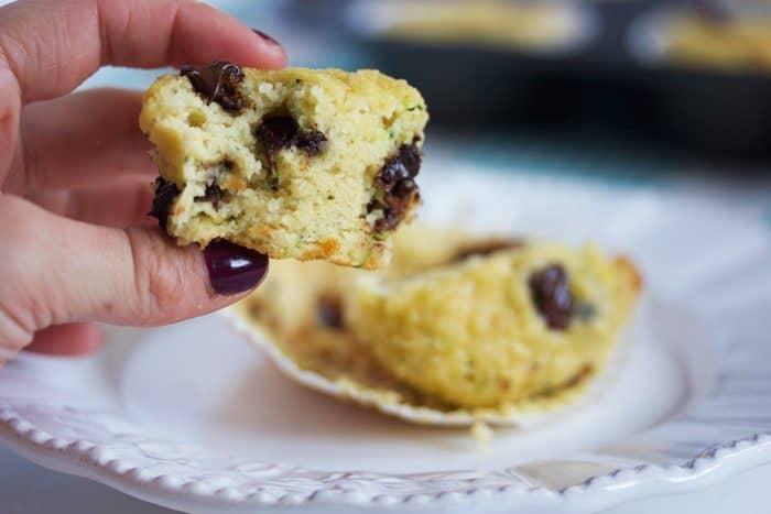 Paleo Chocolate Chip Zucchini Muffins Almond Flour