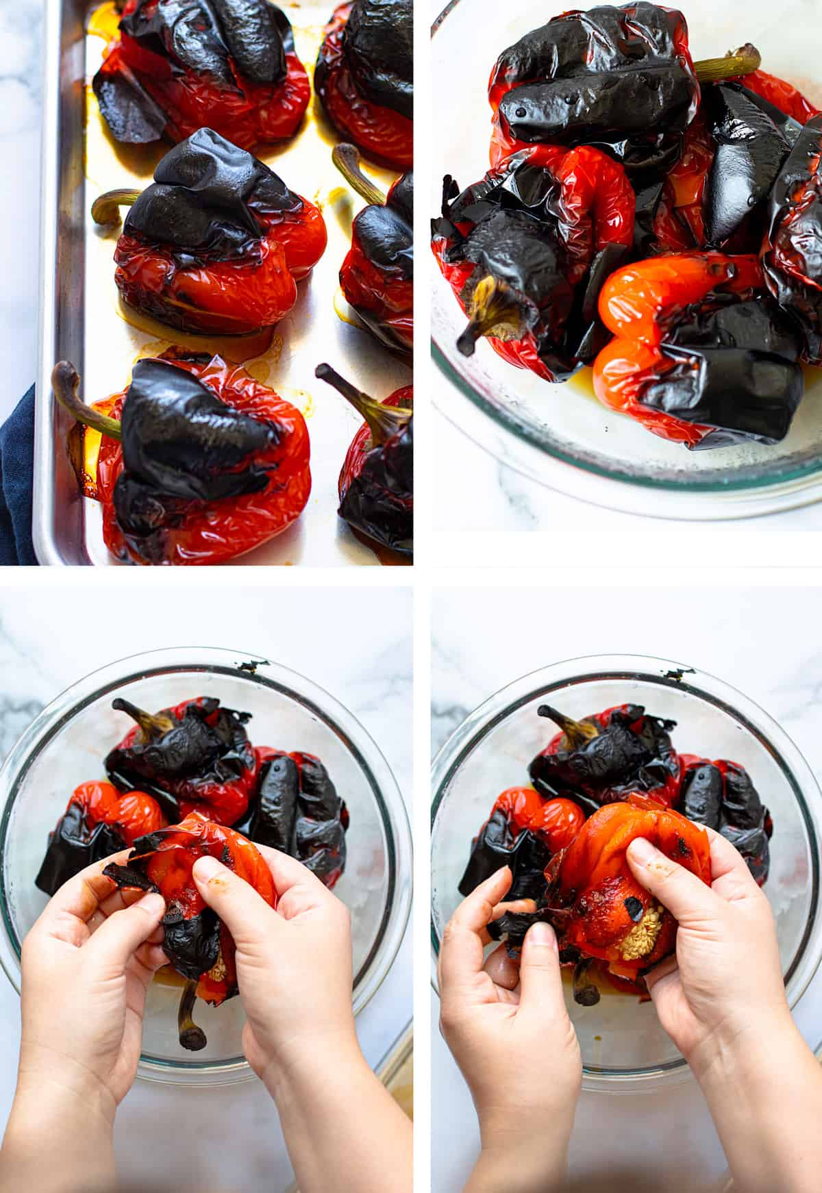 How to Roast Red Peppers step by step