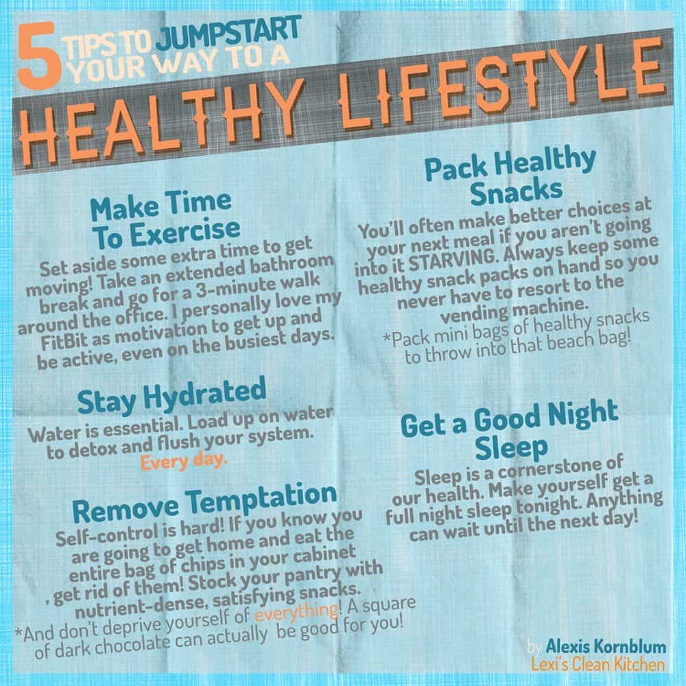 5 Tips to Jumpstart Your Way to a Healthy Lifestyle + a HUGE Giveaway