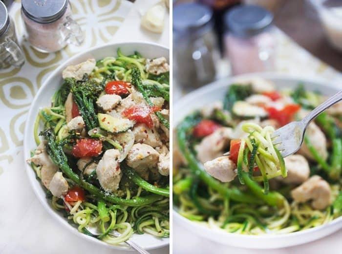 Roasted Garlic Chicken and Veggie Primavera - Lexi's Clean Kitchen