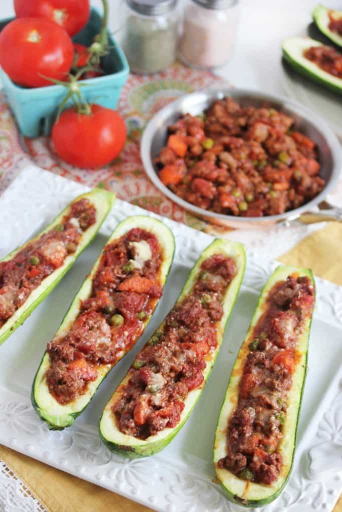 Stuffed Zucchini Boats - Lexi's Clean Kitchen