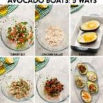 Avocado Boats 5 Ways