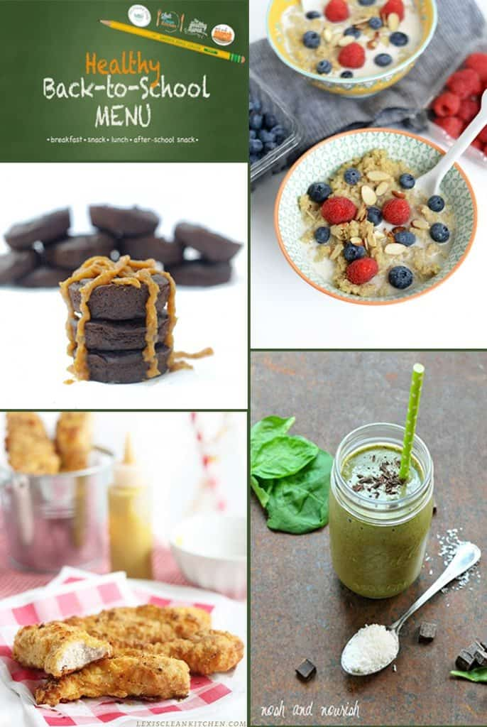 Healthy Back-To-School Menu Collage