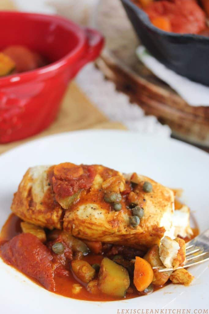 One Pan Moroccan Fish