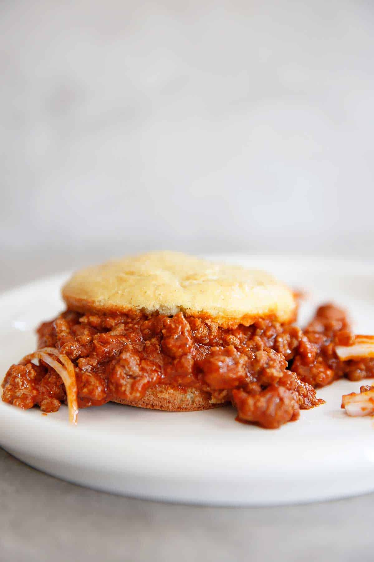 Paleo Sloppy Joes on a plate