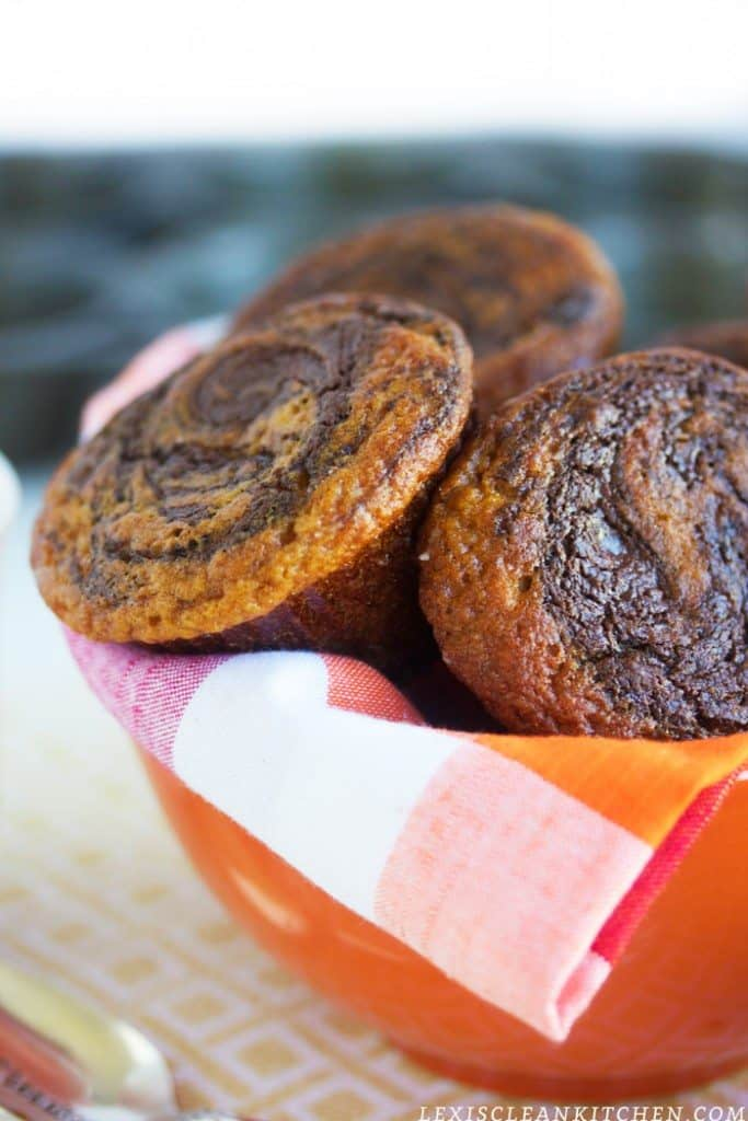 Nutella Swirl Pumpkin Muffin
