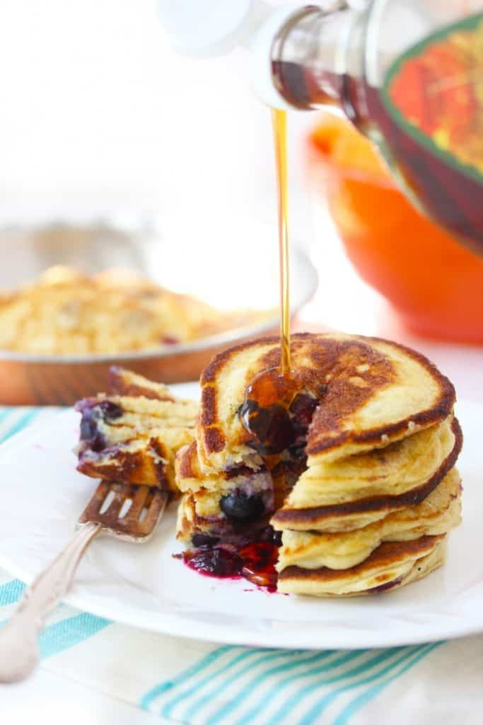 Paleo Pancakes Recipe with Syrup