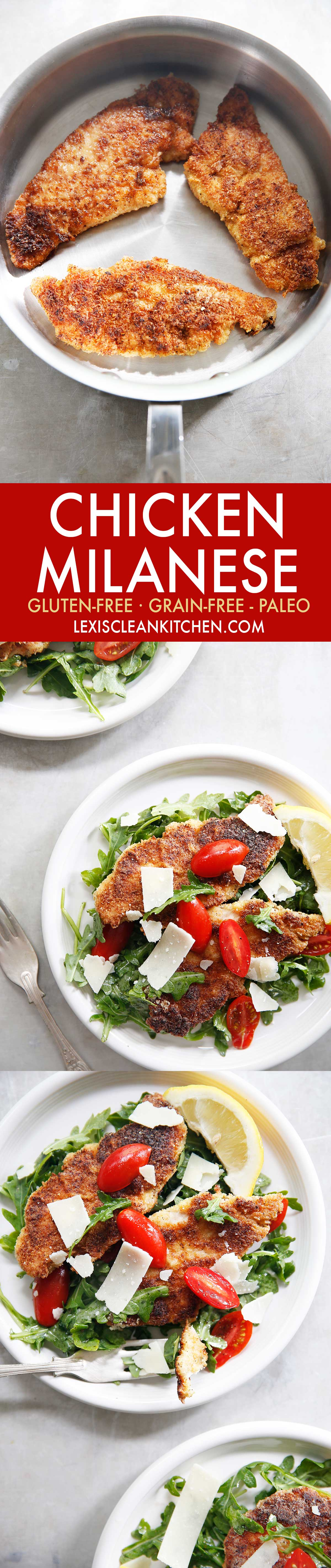 Chicken Milanese {grain-free, paleo-friendly} | Lexi's Clean Kitchen