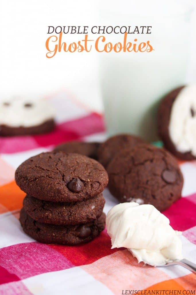 Double Chocolate Ghost Cookies