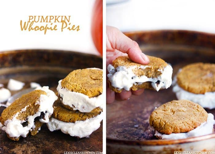 made you Pumpkin Whoopie Pies! Let's talk about these for a second ...