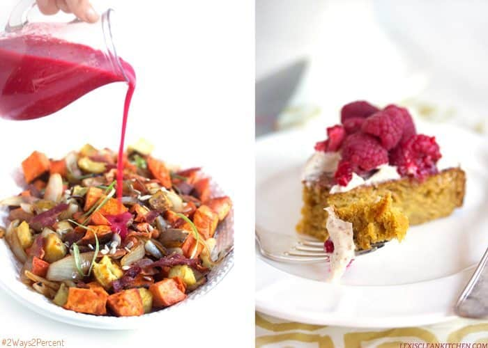 #2ways2percent: Sweet Potato Salad and Frosted Pumpkin Cake