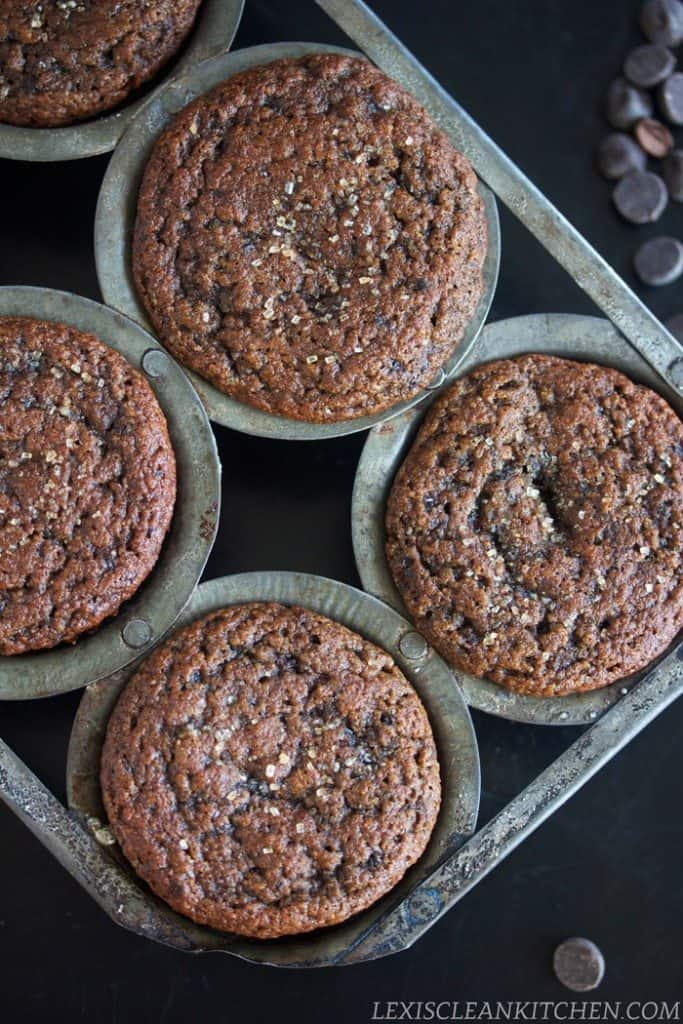 Healthy gluten free chocolate muffins
