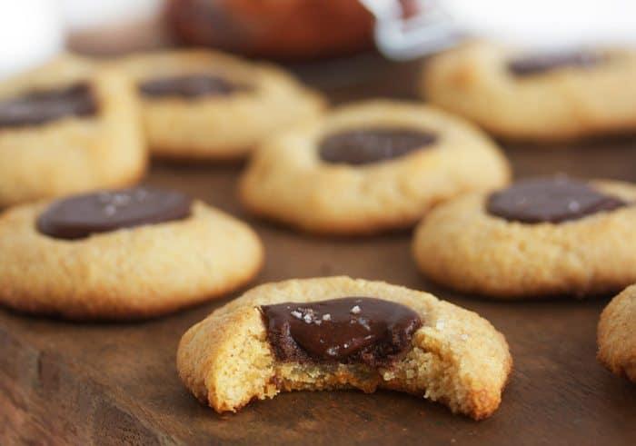 Sea Salt Nutella Thumbprint Cookies - Lexi's Clean Kitchen