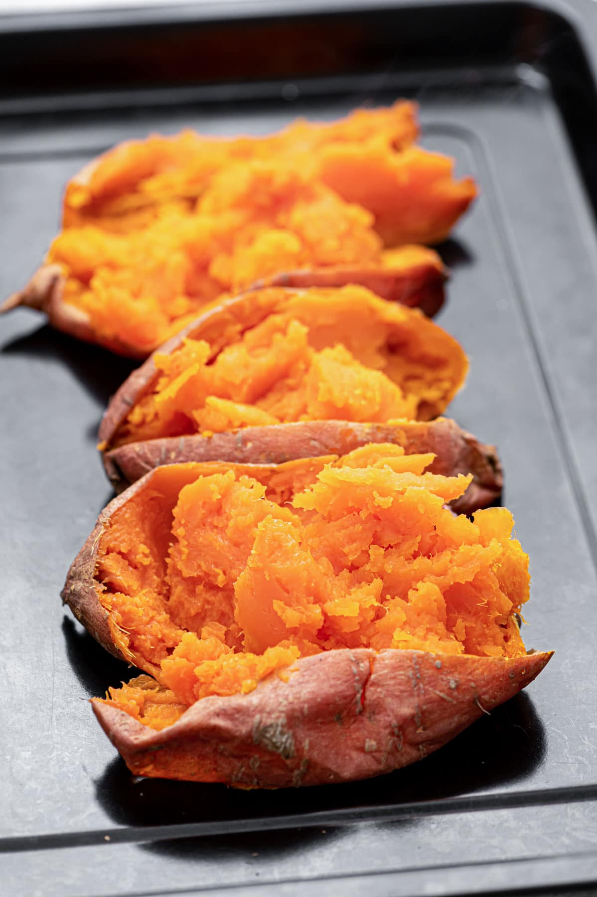 Roasted Sweet Potatoes for gnocchi.