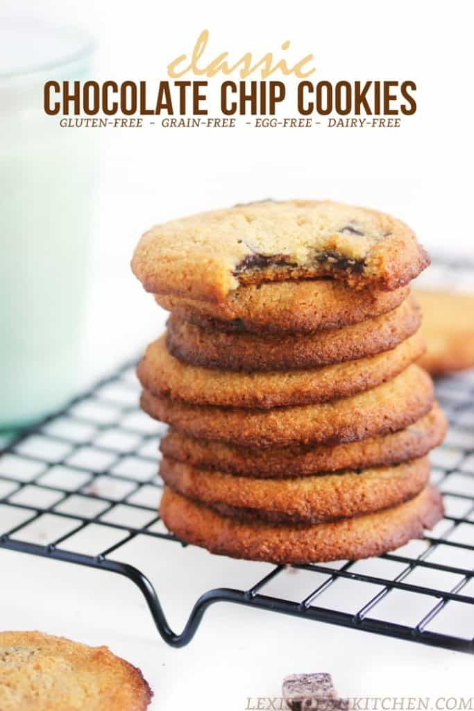 Classic Chocolate Chip Cookies {paleo & egg-free}