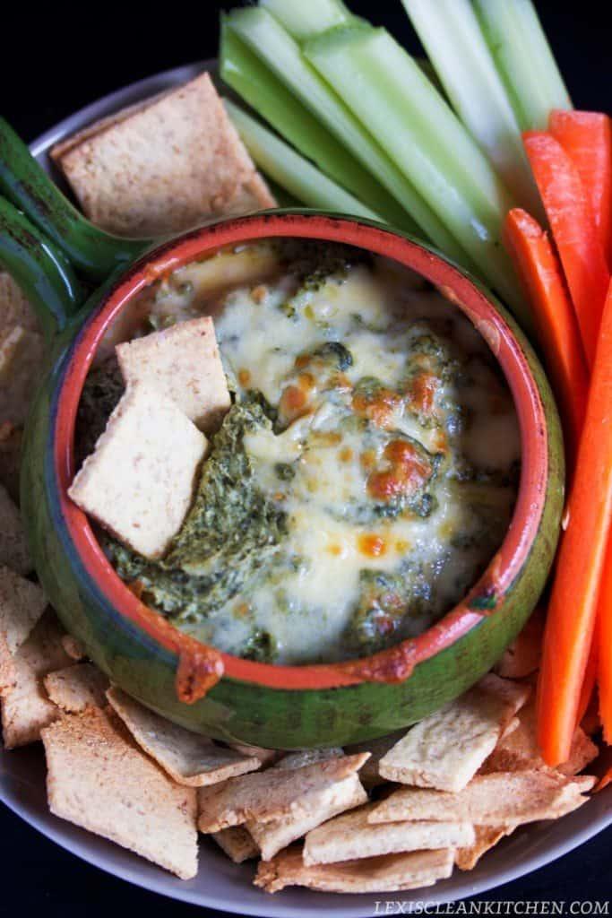 Healthy Spinach & Artichoke Dip