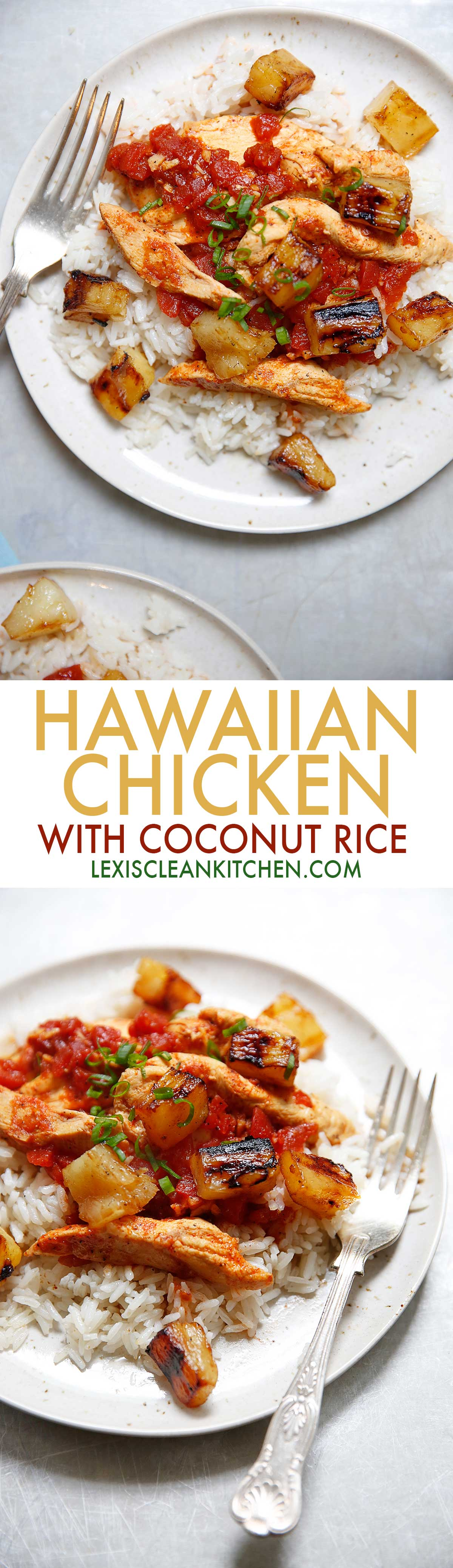 Hawaiian Chicken with Coconut Rice {dairy-free, no refined sugar} | Lexi's Clean Kitchen