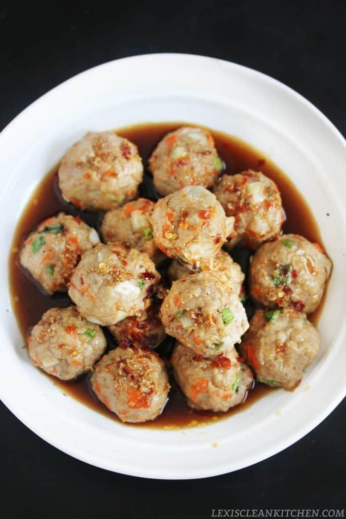 Healthy Thai Turkey Meatballs Lexi S Clean Kitchen