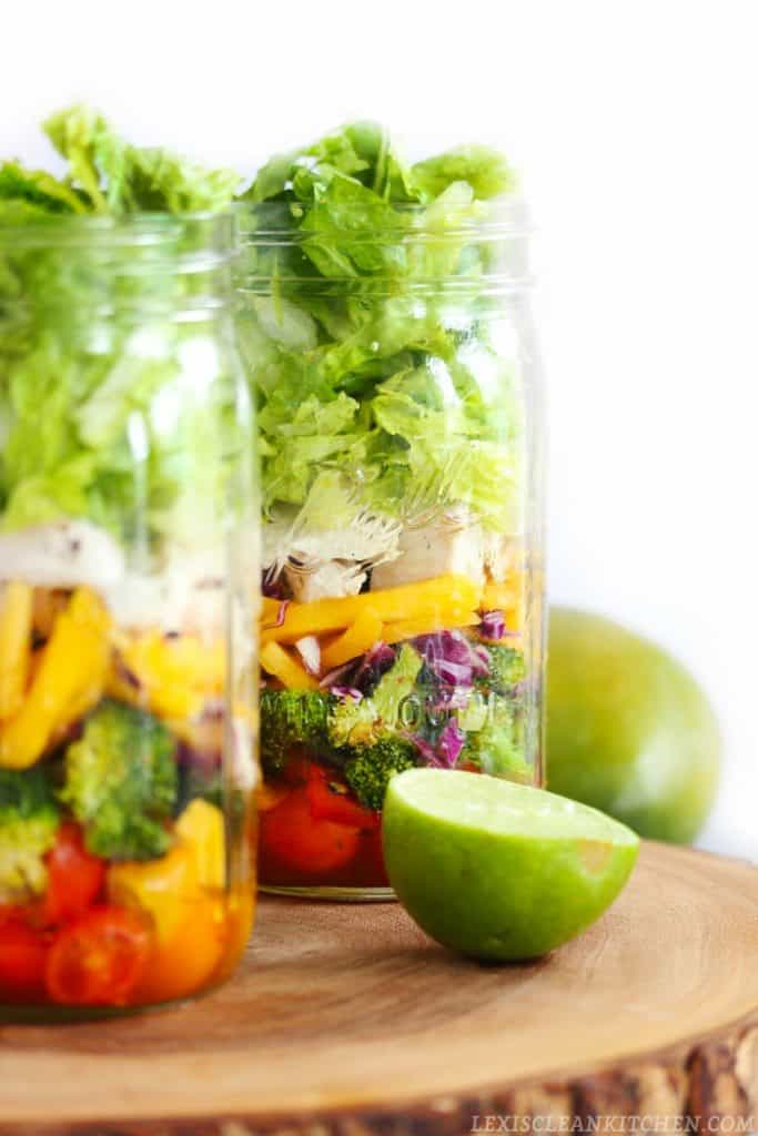 Thai Chopped Chicken Mason Jar Salad