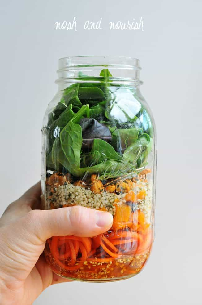 Mason Jar Carrot Salad