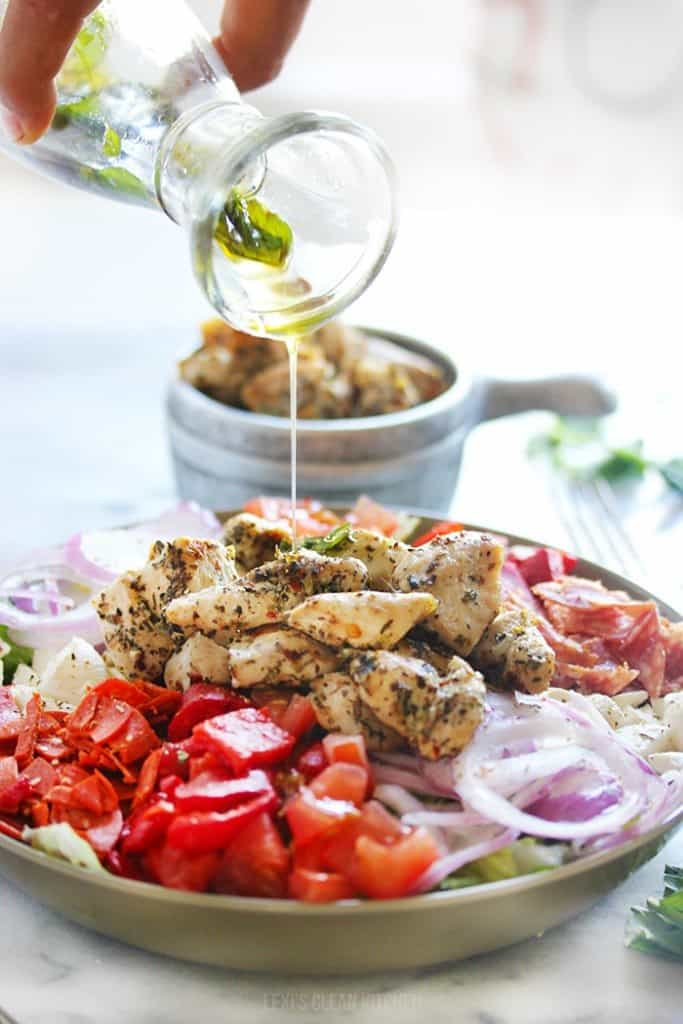 Antipasto Chopped Chicken Salad