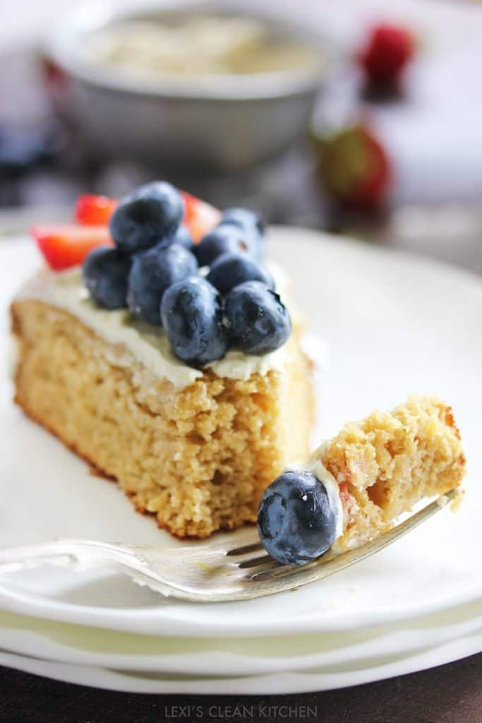 Nut-free 4th of July Cake