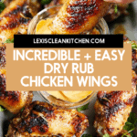 Dry rub grilled wings.