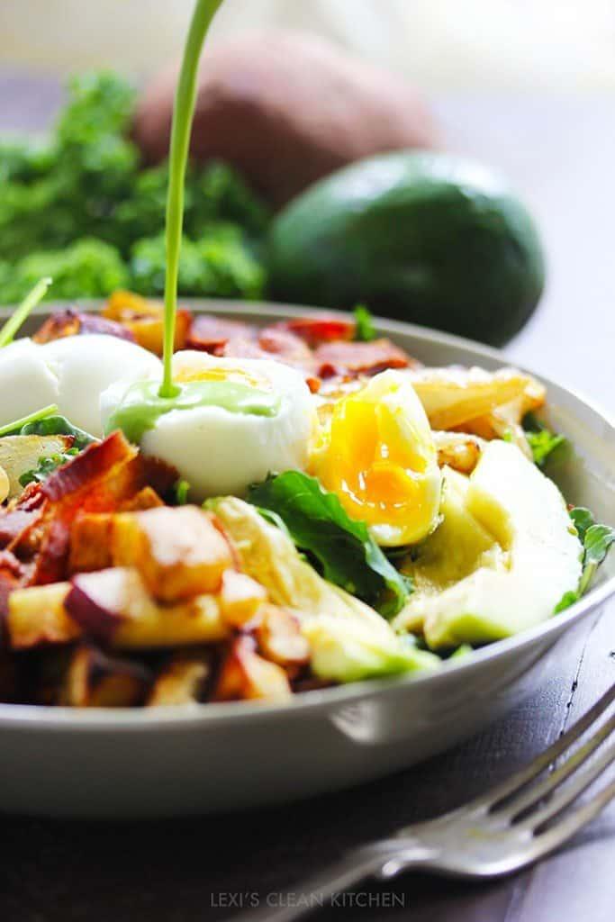 Green Goddess Dressing Amp Breakfast Salad Lexi S Clean Kitchen