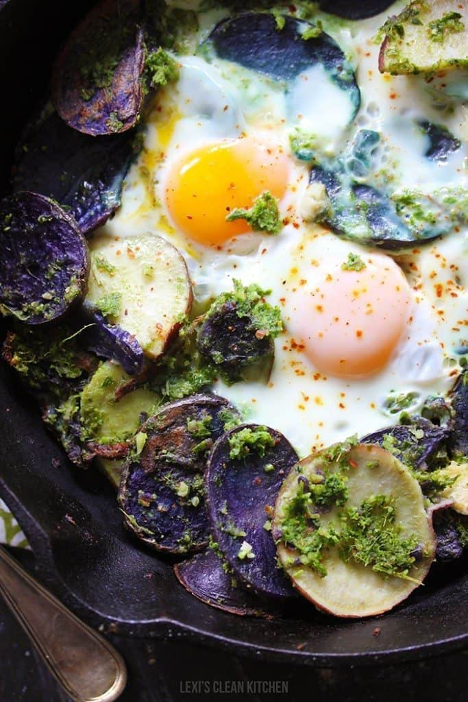 Potato Pesto Breakfast Skillet