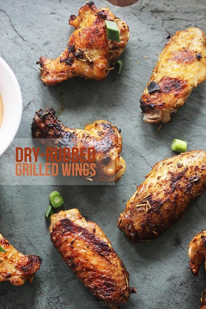 dry rubbed grilled wings