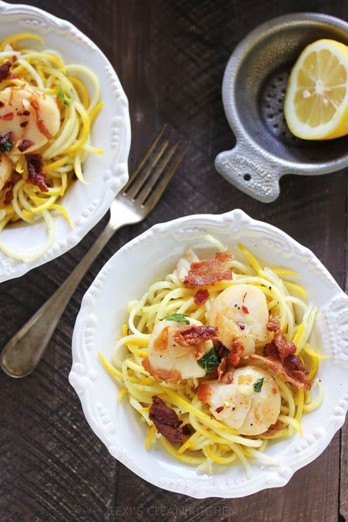 Zucchini and scallop