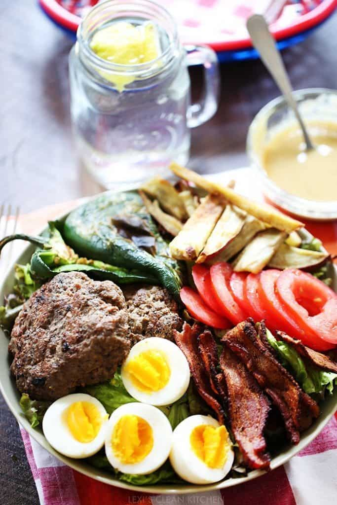Leftover Burger Salad