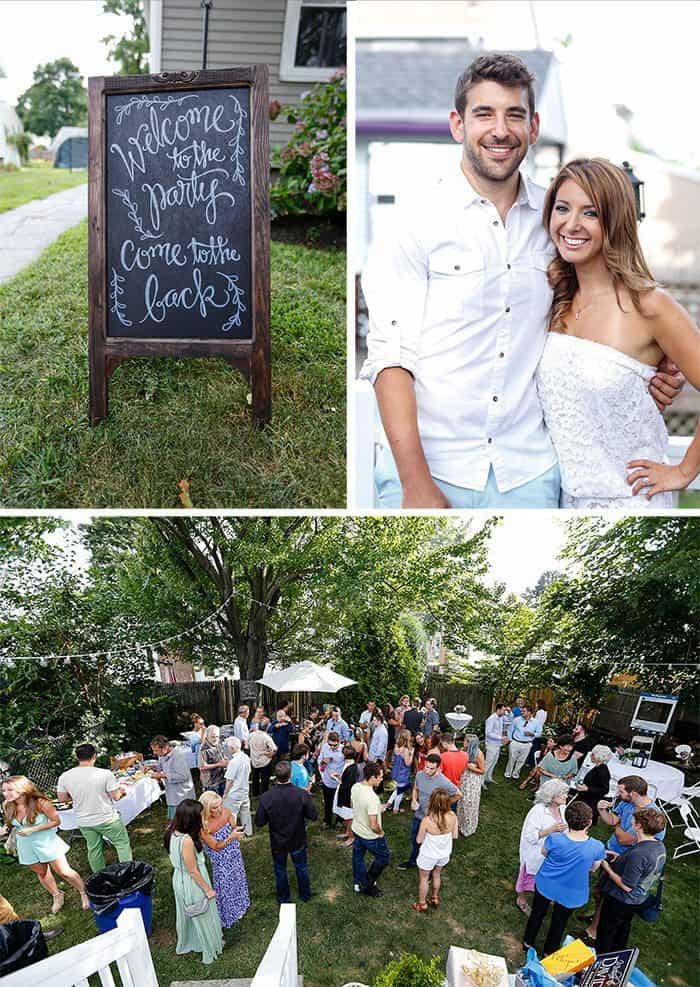 Our Backyard Engagement Party