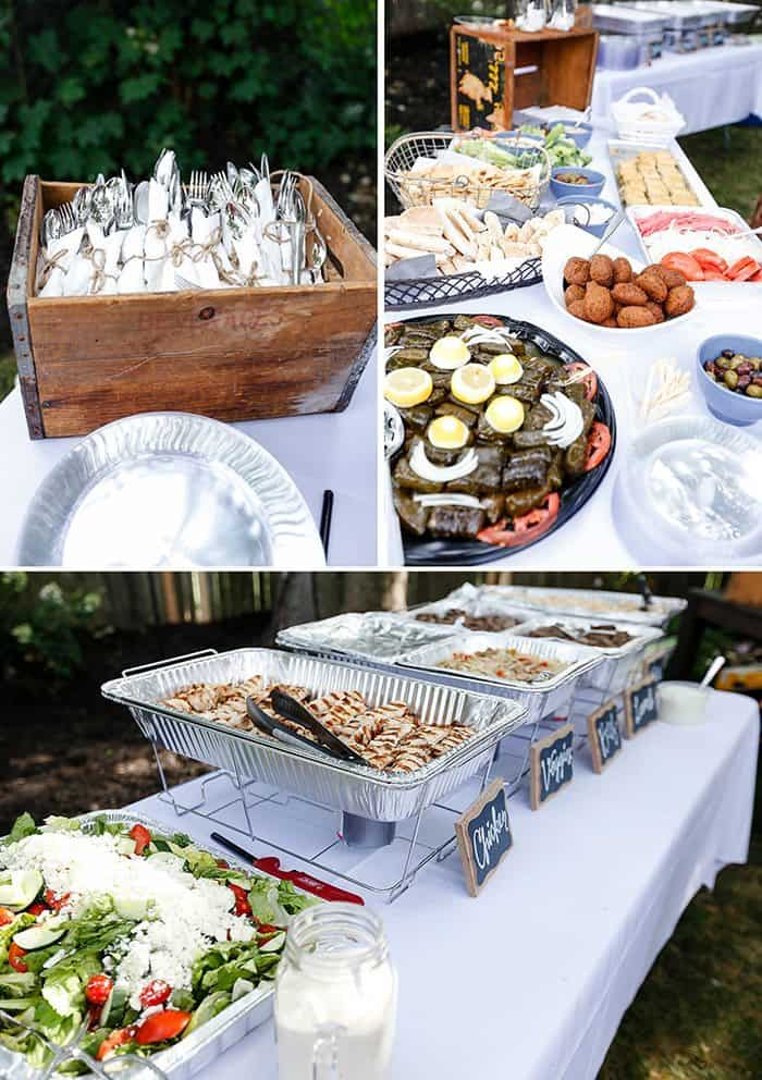 We Went Back And Forth About What To Do Catering For A Few Months I Our Backyard Engagement Party