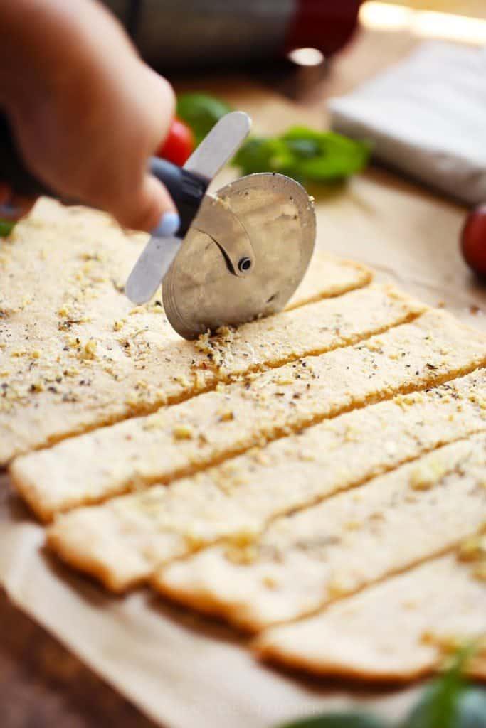 Gluten Free garlic flatbread