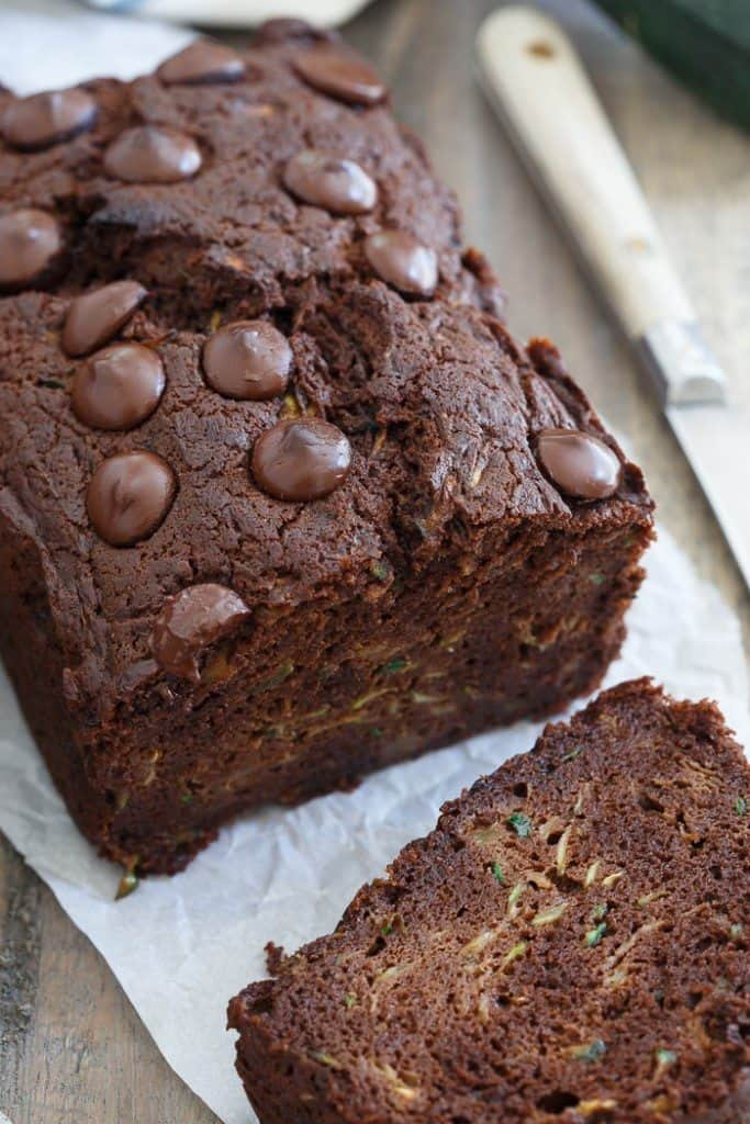 Paleo Chocolate Zucchini Bread from Running to the Kitchen