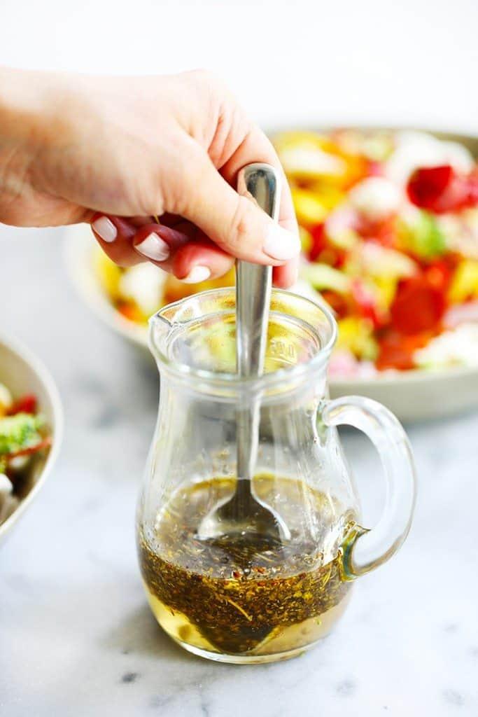 Healthy antipasto salad