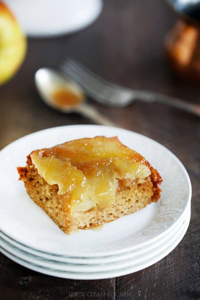 Caramel Apple Upside Down Honey Cake - Lexi's Clean Kitchen