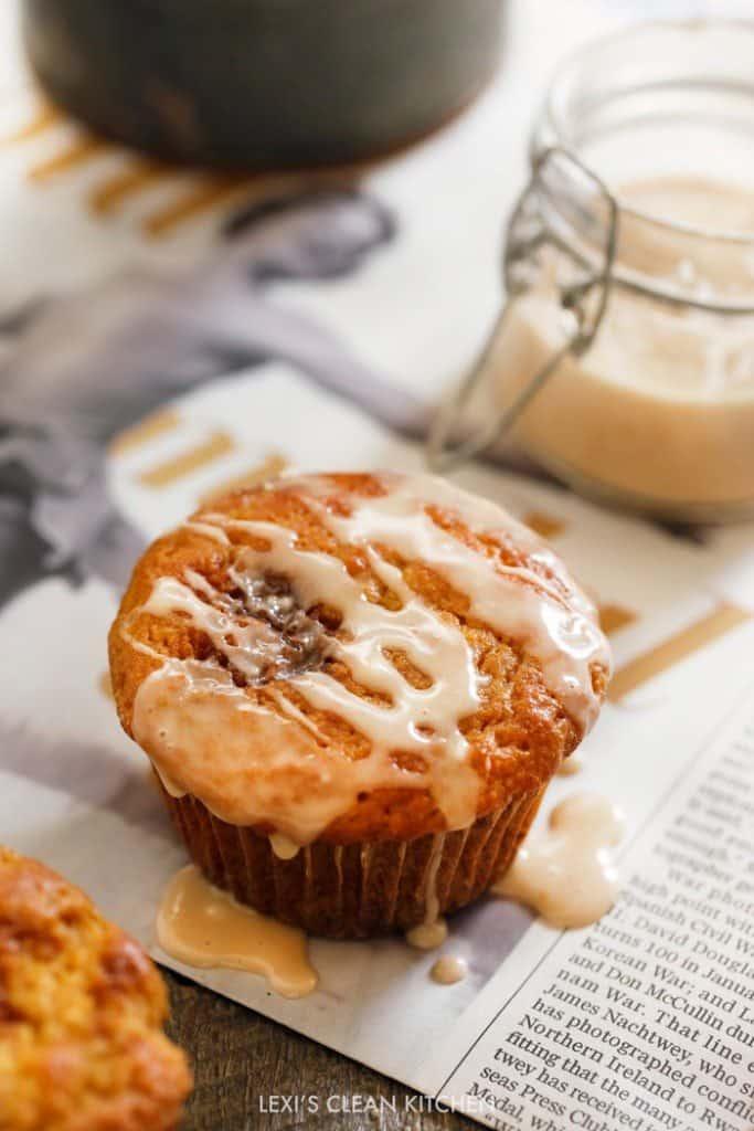 Pumpkin Sticky Bun Muffins