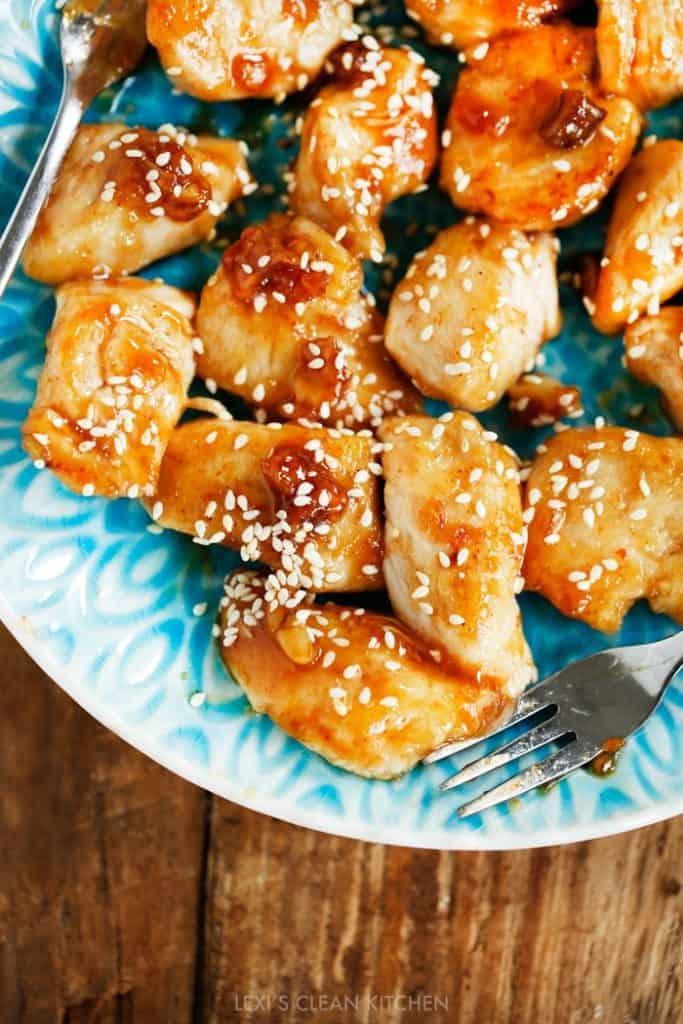 Sticky Chicken Bites Lexis Clean Kitchen