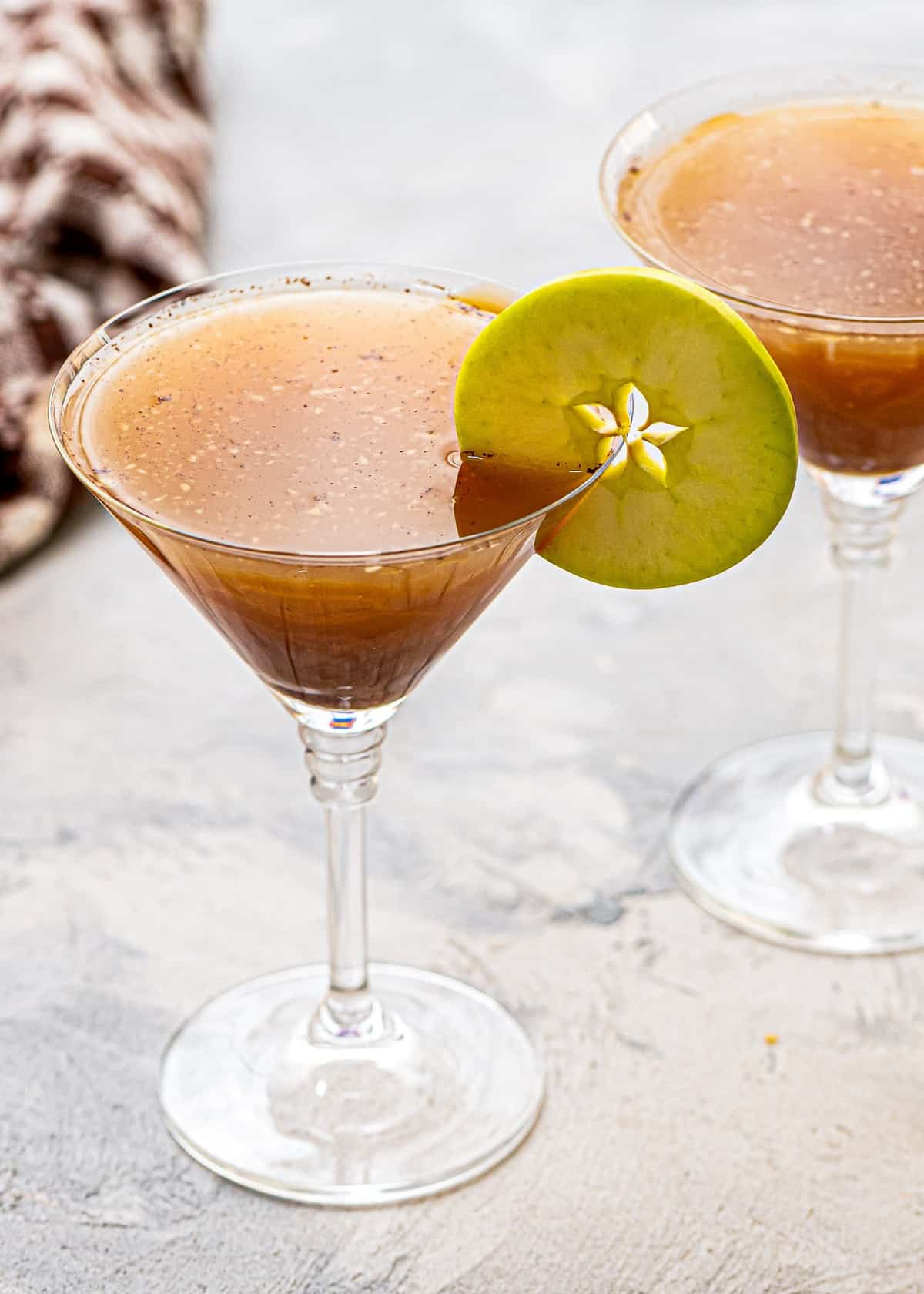 Homemade Caramel Apple Martini