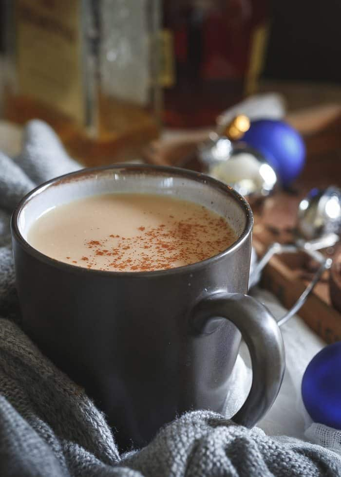 Coconut chai hot toddy