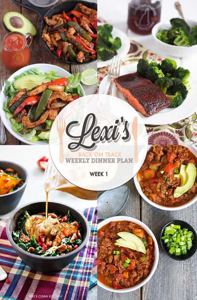Lexi's Weekly Dinner Plan Week 1 (2016)