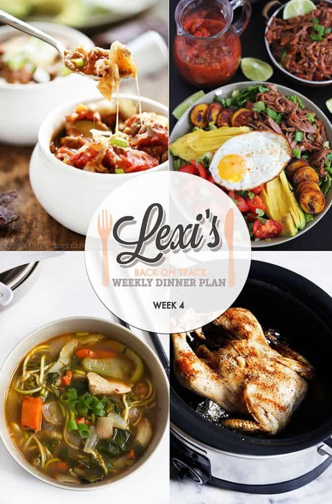 Lexi's Weekly Dinner Plan Week 4 (2016)