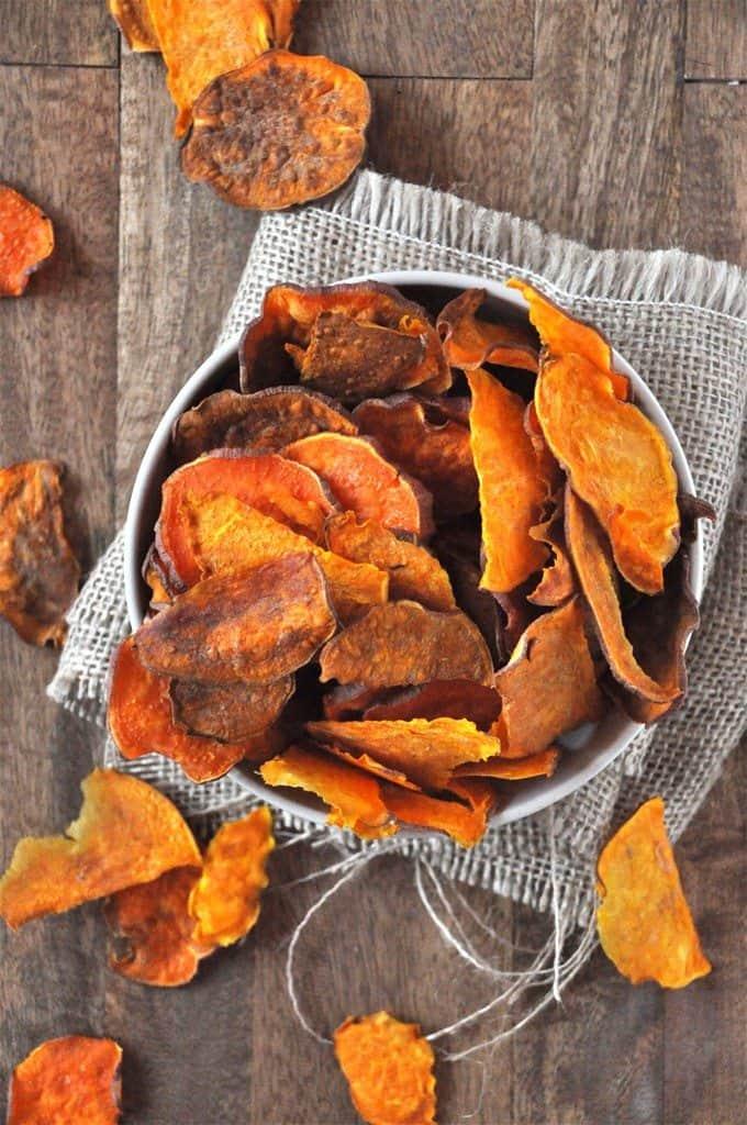 Baked Sweet Potato Chips the minimalist baker