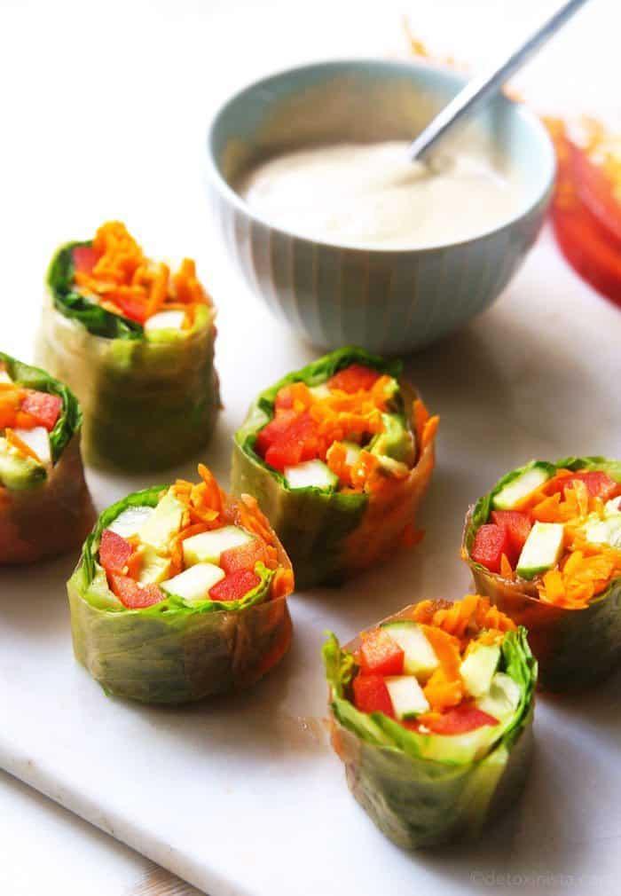 Garden Vegetable Salad Rolls