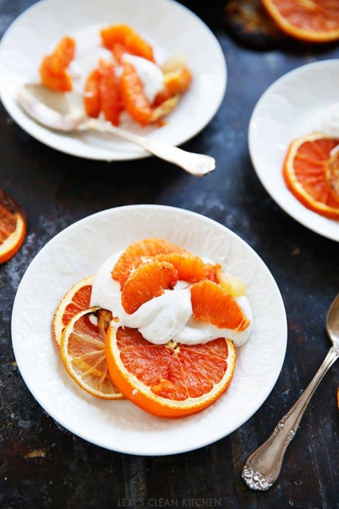 Roasted Citrus with Salted Vanilla Whipped Cream