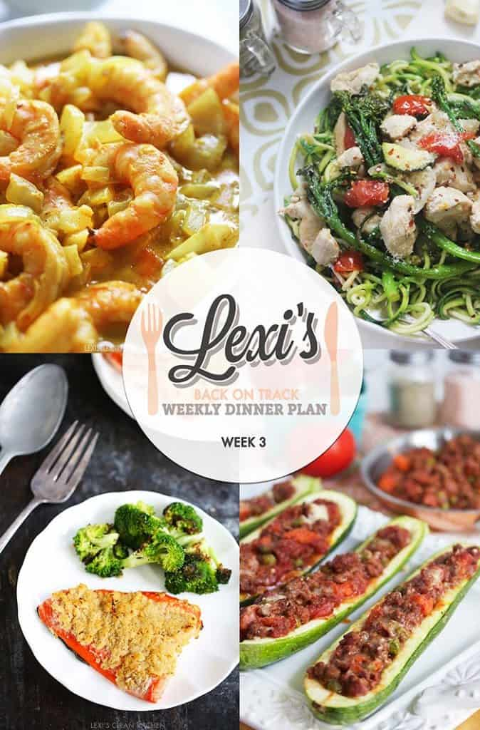 Lexi's Weekly Dinner Plan Week 3 (2016)