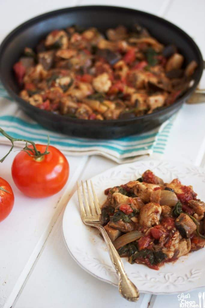 Chicken and Eggplant One Pan